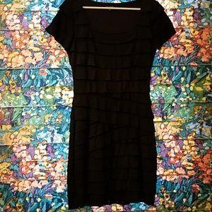 MAX EDITION tiered Black dress..